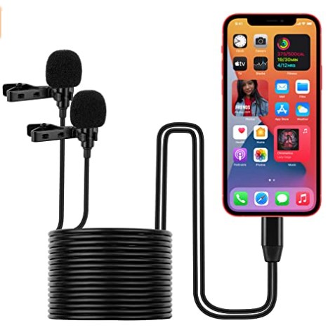 Dual Lavalier Microphone, Wired – iPhone
